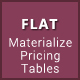 Flat - Materialize Design Pricing Tables