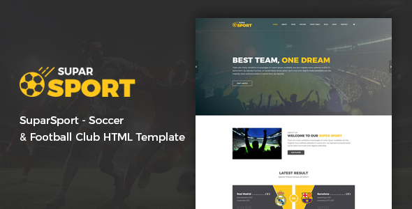 SuparSport - Soccer and Football Club HTML Template