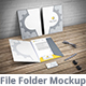 Document Folder Mockup - File Folder