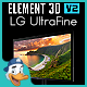 LG UltraFine for Element 3D