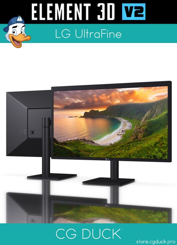 LG UltraFine for Element 3D - 3DOcean Item for Sale