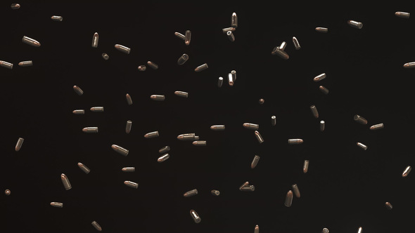 VideoHive 9mm Bullet Floating in Space 19530470