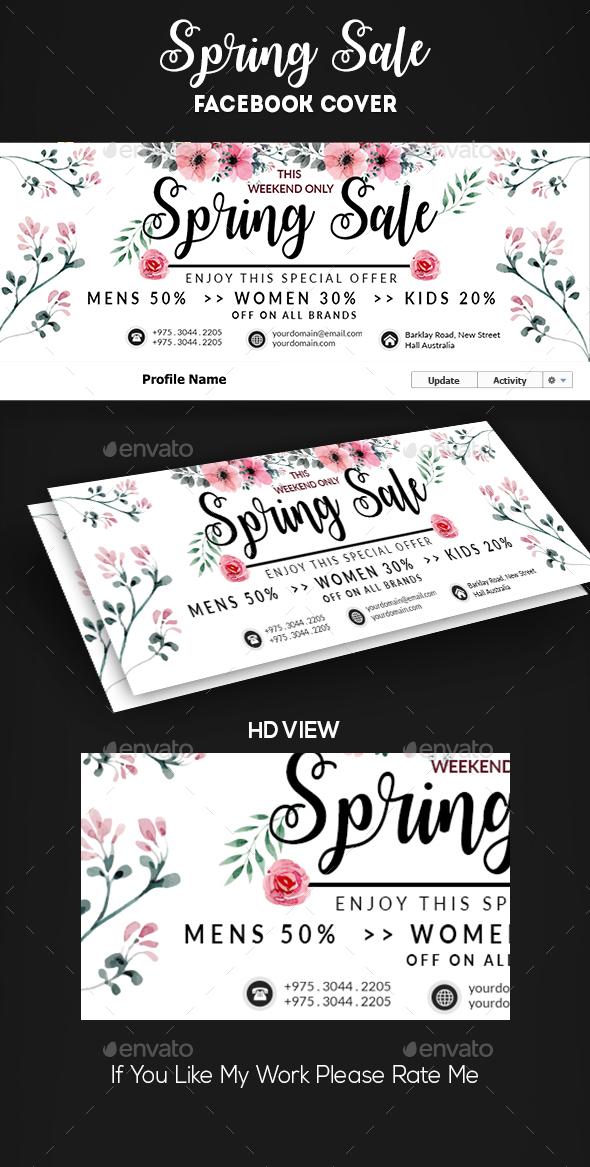Spring Summer Sale Facebook Cover