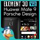Huawei Mate 9 Porsche Design for Element 3D
