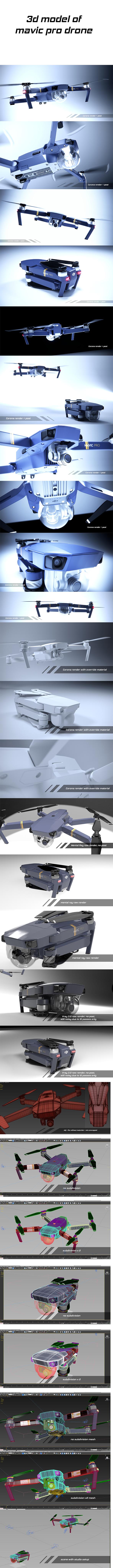 dji mavic pro quadcopter - 3DOcean Item for Sale