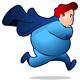 Chubby Superhero Running