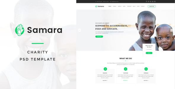 Samara - Charity PSD Template