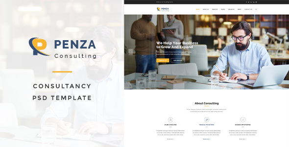 Penza - Consulting PSD Template