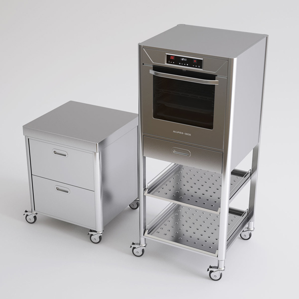 Alpes Inox Kitchen Furniture and Appliances - 3DOcean Item for Sale