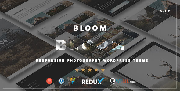 Bloom - Responsive Photography / Portfolio WordPress Theme b ...