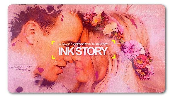 VideoHive Clean Ink Watercolor Slideshow 19533490