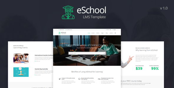 Download eSchool - Education & LMS Joomla Template