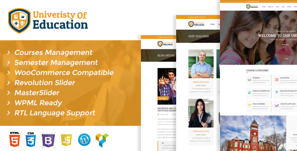 University of Education WordPress Theme – Courses Management WP (Education)
