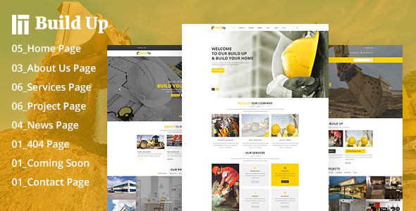 Build Up Real Estate & Construction PSD Template