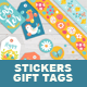 Easter Gift Tags with Sticker and, Tapes