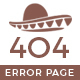 Mexico Desert Error 404 Page Template