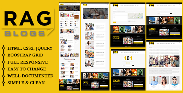 Rag - Blog Magazine HTML Template