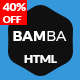 Bamba - One Page Clean Responsive Business HTML5 Template