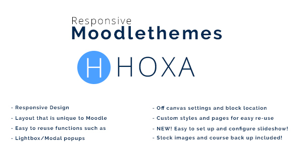 Download Hoxa - Responsive Moodle Theme