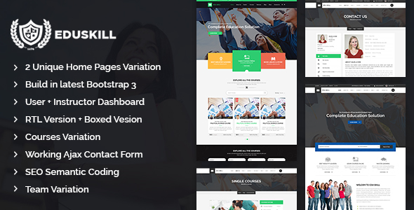 Eduskill - Education LMS Bootstrap Template