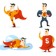 Cartoon Superhero Action Set 1
