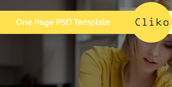 Cliko - One Page Portfolio PSD Template