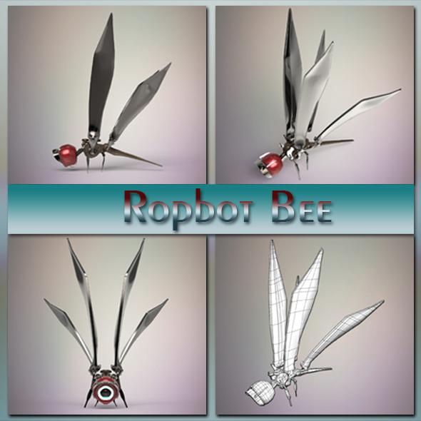Robot bee - 3DOcean Item for Sale
