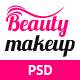 Beauty Makeup - Multipurpose Salon PSD Template