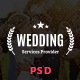 Wedding & Wedding Planner PSD Template