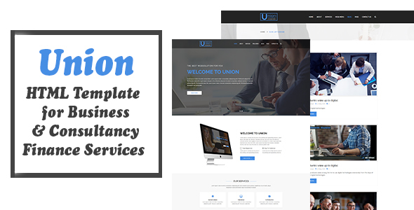Union - HTML Template For Business Consultancy and Finance Services