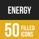 Energy Filled Low Poly B/G Icons