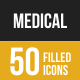 Medical Filled Low Poly B/G Icons