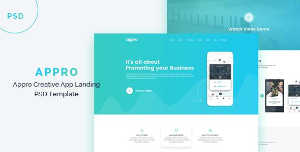 APPRO - Creative App Landing PSD Template