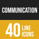 Communication Filled Low Poly B/G Icons