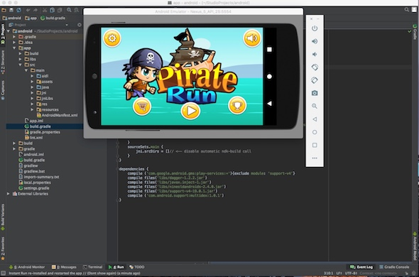 CodeCanyon Pirate Adventures Android studio Google games Leaderboard Admob 19539255