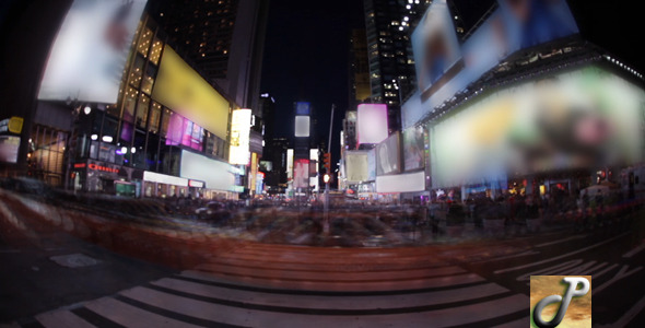 Times Square Wide Time Lapse FUll HD