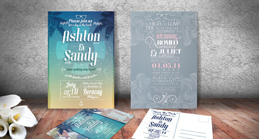 Beach Style Wedding Invites