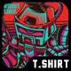 Funky Robot T-Shirt Design