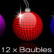 12 x Christmas Baubles - GraphicRiver Item for Sale