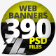 390 Web & Facebook Banners - MEGA PACK