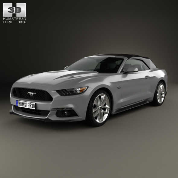 Ford Mustang convertible 2015 - 3DOcean Item for Sale