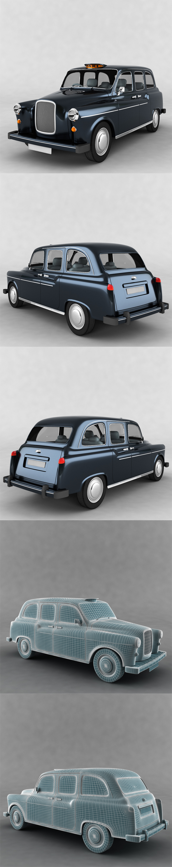Classic London Cab - 3DOcean Item for Sale