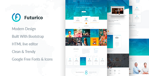 Futurico - Multipurpose HTML  Template