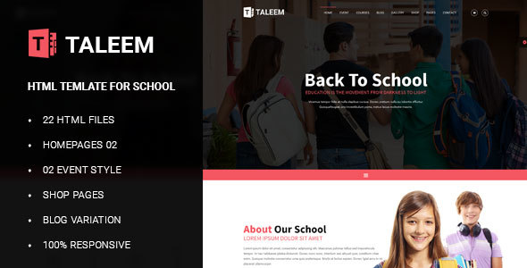 Education - School Education HTML Template