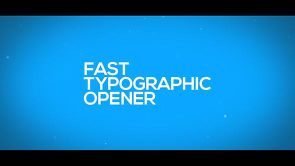VideoHive Fast Typographic Opener 19543316