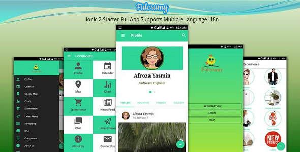 Ionic two Starter Complete App Supports Many Language i18n (Mobile)
