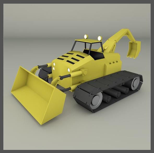 3DOcean Tractor Backhoe 19544172