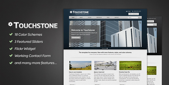 Touchstone - Corporate & Portfolio Template