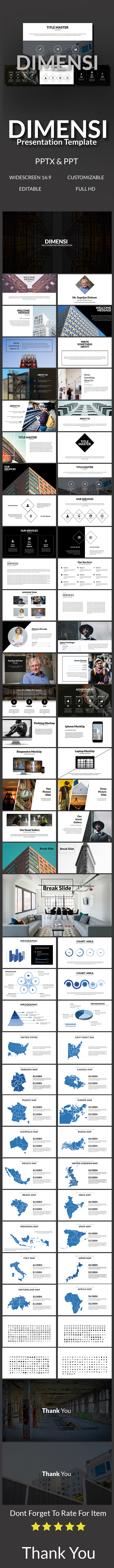 Dimensi Multipurpose Template (PowerPoint Templates)
