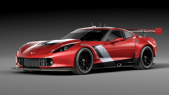 Chevrolet Corvette race car - 3DOcean Item for Sale